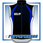 Blue Honeycomb Full-Zip Cycling Gilet (Unlined)