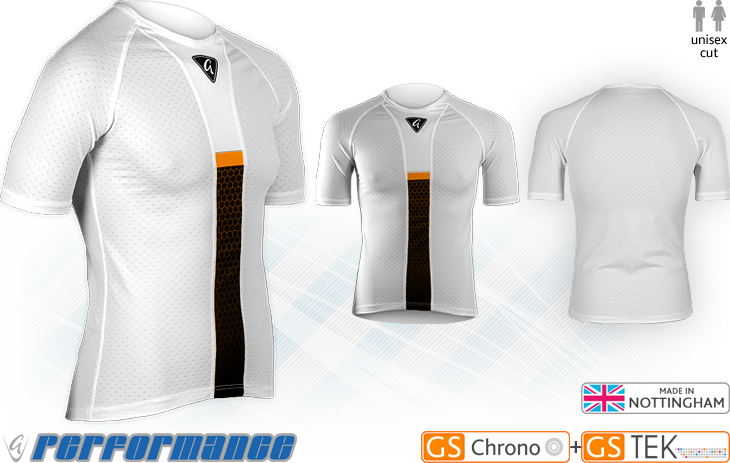Orange Honeycomb Cycling Hypervent Baselayer