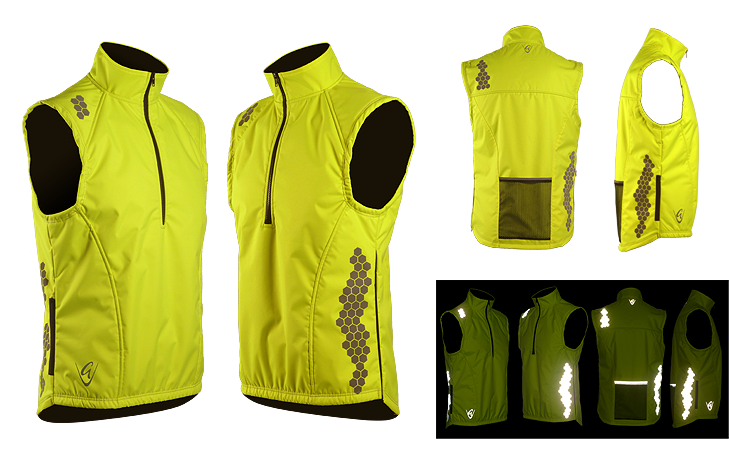 Be Seen Gilet Honeycomb