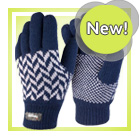 Navy Pattern Gloves