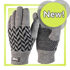 Grey Pattern Gloves