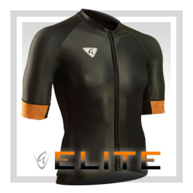 Black S/S Elite Cycling Jersey