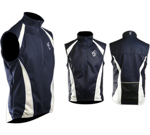 Men's Navy/White Mazu Gilet Fleece Lined